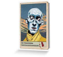 Scary Krishna Greeting Card