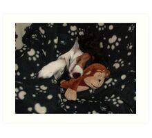 Sleepy Charlie Girl Art Print