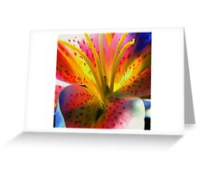 Outlandish Lilly Greeting Card