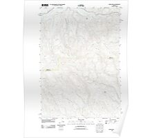 USGS Topo Map Oregon Devils Heel 20110831 TM Poster