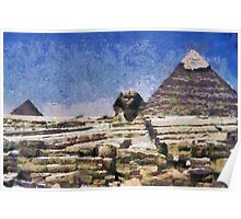 The Pyramids Of Giza And The Great Sphinx Poster