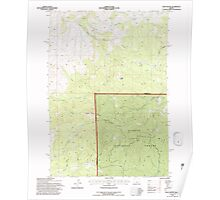 USGS Topo Map Oregon Foley Butte 279912 1992 24000 Poster