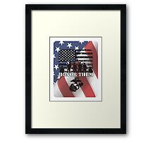 Honor Them-Marines Framed Print