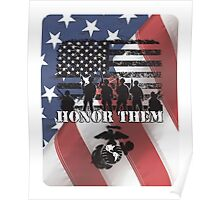 Honor Them-Marines Poster