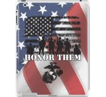 Honor Them-Marines iPad Case/Skin