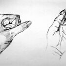 Hands Sketch ll by Victoria limerick