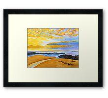 Golden Evening Framed Print