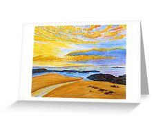 Golden Evening Greeting Card