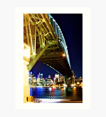 Underbelly of The Sydney Harbour Bridge Art Print