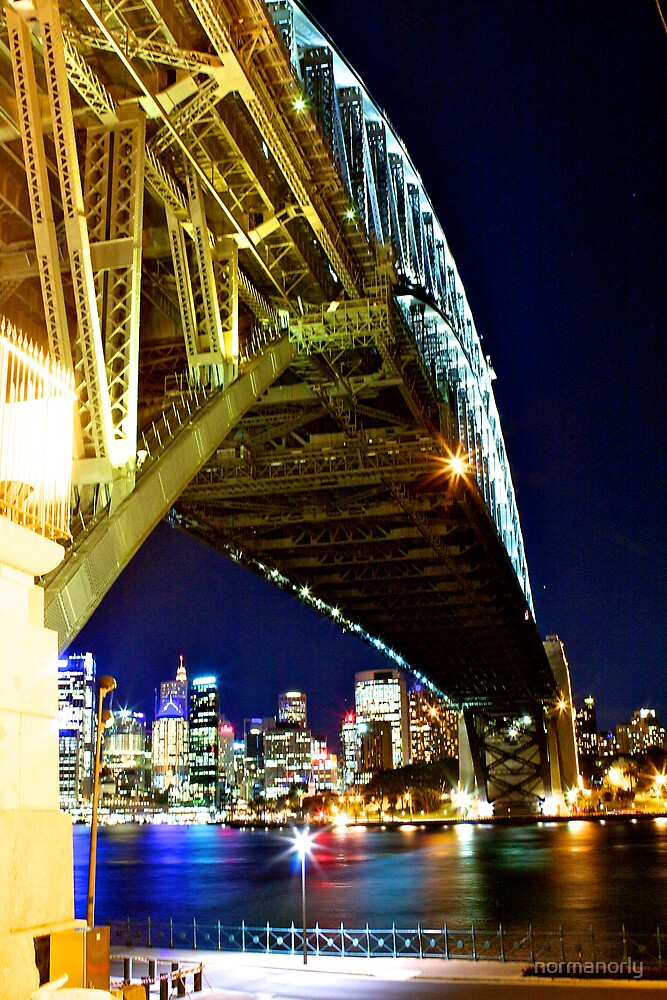 Underbelly of The Sydney Harbour Bridge by normanorly