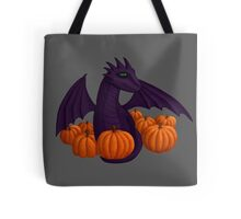Little Purple Dragon with Pumpkin Hoard Tote Bag