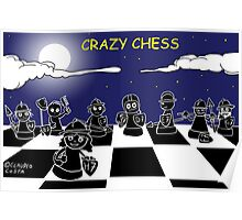 Crazy chess # 2 Black pawns Poster