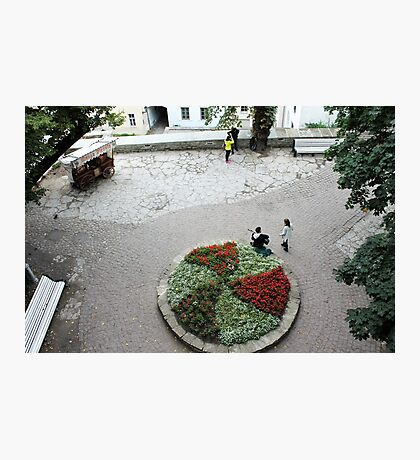 A small town square Photographic Print