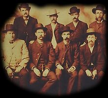COWBOYS, Dodge City, Peace Commission, Wyatt Earp, and others, Wild West by TOM HILL - Designer