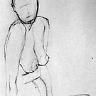 Woman Sitting - Nude by Victoria limerick