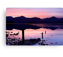 Derwentwater winter sunset - The Lake District Canvas Print