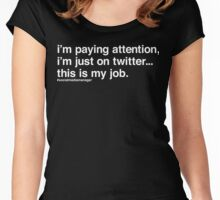 The Social Media Manager's Struggle is Real Women's Fitted Scoop T-Shirt
