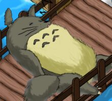 A sleeping Totoro blocks the way! Sticker