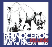 save africa's rhinoceros by aHadeda