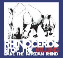save africa's rhinoceros by aHadeda