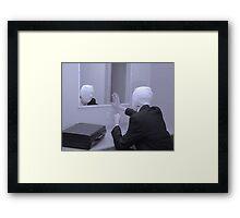 hello darkness my old friend,,,, Framed Print