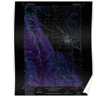 USGS Topo Map Oregon Wallowa 281996 1964 24000 Inverted Poster