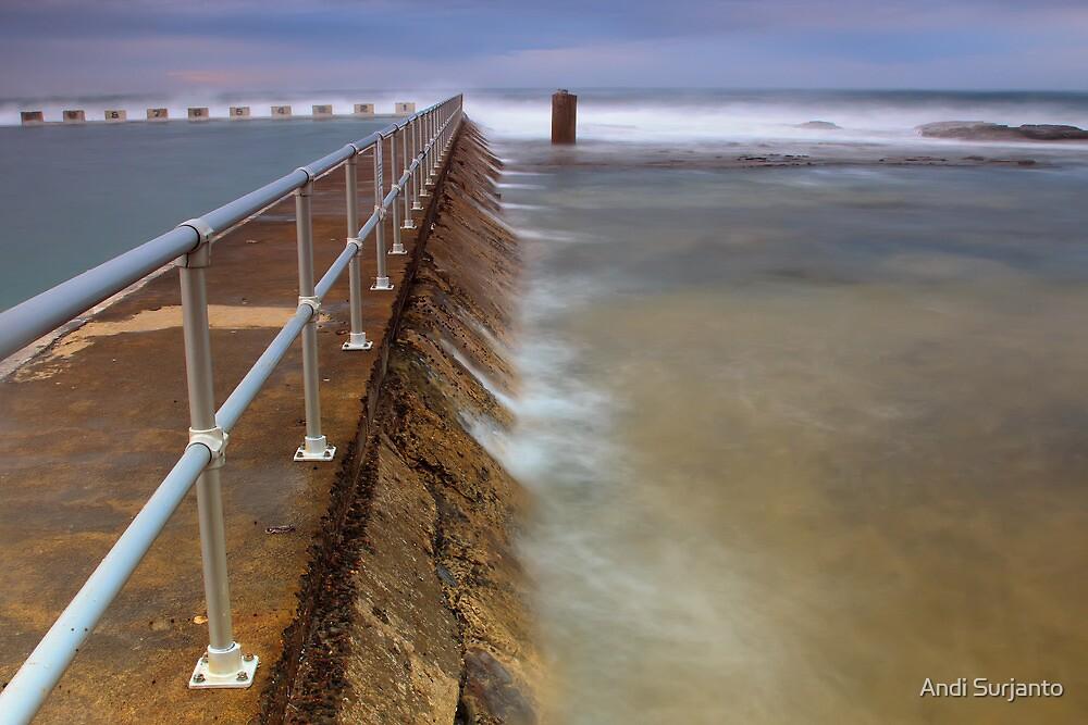Merewether Ocean Baths - The Overflow by Andi Surjanto