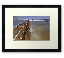 Merewether Ocean Baths - The Overflow Framed Print