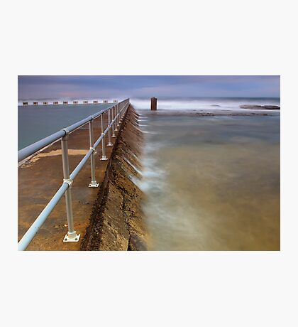 Merewether Ocean Baths - The Overflow Photographic Print