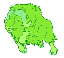 Leaping Lime Musk-ox by Swirlything