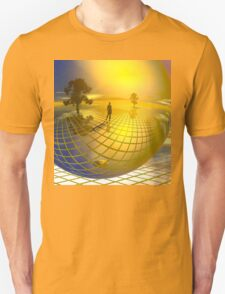 Surreal landscape with trees Unisex T-Shirt