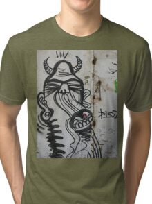 The city of the monsters - Street art Tri-blend T-Shirt