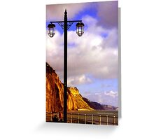 Lamp Along the Seafront Greeting Card