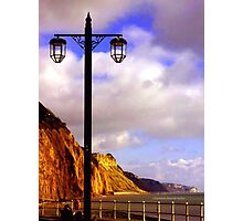 Lamp Along the Seafront Photographic Print