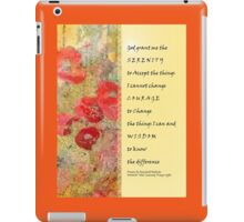 Serenity Prayer Poppies Abstract iPad Case/Skin