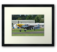 US Mustang fighter Framed Print