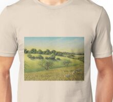 Early Evening Sun, Epsom Downs, Surrey Unisex T-Shirt
