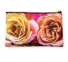 Pink & Yellow Bloom's Rose Reflection Studio Pouch