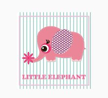 Cute girl elephant illustration for apparel or other uses,in vector. Baby showers, parties for baby girls. Womens Fitted T-Shirt