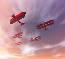 The missing man formation as a Memorial Day tribute. by Carol and Mike Werner