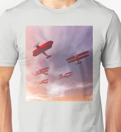 The missing man formation as a Memorial Day tribute. Unisex T-Shirt