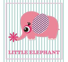 Cute girl elephant illustration for apparel or other uses,in vector. Baby showers, parties for baby girls. Photographic Print