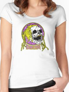 Young thug skull Women's Fitted Scoop T-Shirt