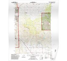 USGS Topo Map Oregon Grizzly Mtn 280106 1992 24000 Poster