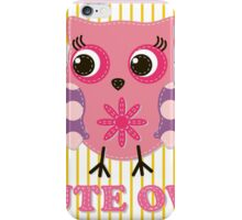 Cute girl owl illustration for apparel or other uses,in vector. Baby showers, parties for baby girls. iPhone Case/Skin