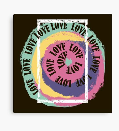 Love. Typography, t-shirt graphics, vectors Canvas Print