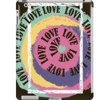 Love. Typography, t-shirt graphics, vectors iPad Case/Skin