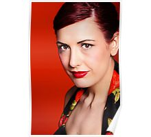 Red hair lady Poster