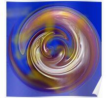 Copper Swirl Poster
