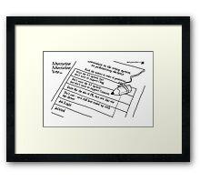 Alternative Alternative Vote... Framed Print